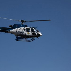 A SAPS helicopter