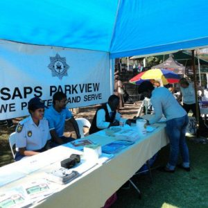 The stall of SAPS Parkview at Open Day in 2017