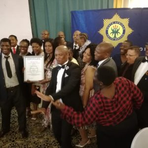 Jubilant members of Parkview SAPS winning the Station of the Year Award at the 2017 / 18 Joburg East Cluster Annual Excellence Awards on 19 October 2018