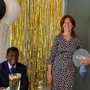 Colonel Ledwaba and CPF chairperson Geraldine Connell